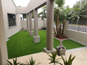 Kerb appeal - artificial grass and paving