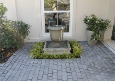 Entrance Paving -Grey Cobble Paving