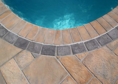 Non-slip Shurefoot coping 150x300 with Charcoal inlay cobble