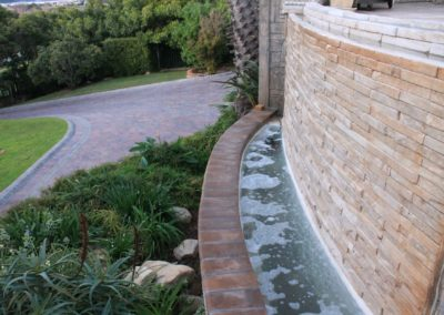 Driveway and entrance mixed paving