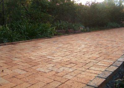 Clay brick Driveway